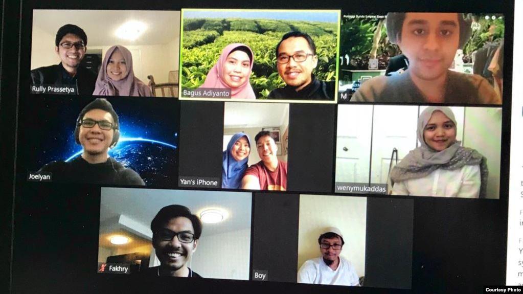 Pertemuan virtual organisasi Indonesian Muslim Youth in America (IMYA) (dok: Irwan Saputra)