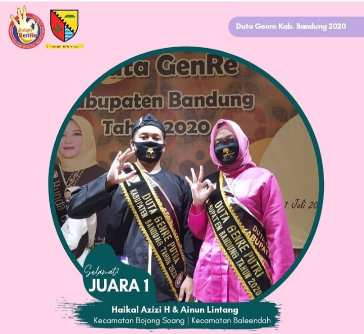 Generasi Milenial Kabupaten Bandung Raih Prestasi Duta Genre 2020 Harmoni Online