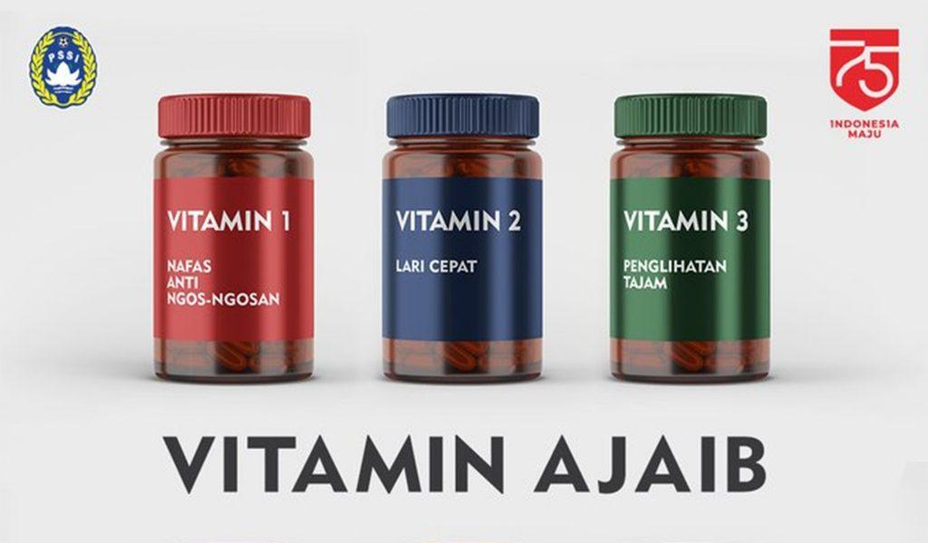 Foto : Vitamin ajaib dari @PSSI. Foto: Twitter