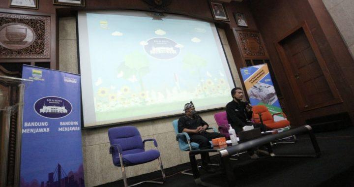 Kepala Seksi Kemitraan dan Prestasi Pemuda Dinas Pemuda dan Olahraga (Dispora) Kota Bandung, Supriyardi pada acara Bandung Menjawab, Kamis (6 Agustus 2020).* Teguh P./Humas.Bandung.go.id