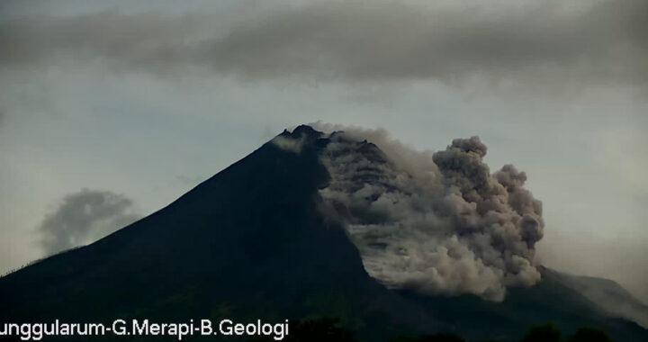 Foto : BPPTKG mencatat bahwa Gunung Merapi telah mengeluarkan awan panas guguran (APG) sebanyak 36 kali dengan jarak luncur antara 500 hingga 3.000 meter dari kawah puncak pada hari ini Rabu (27/1 (BPPTKG)