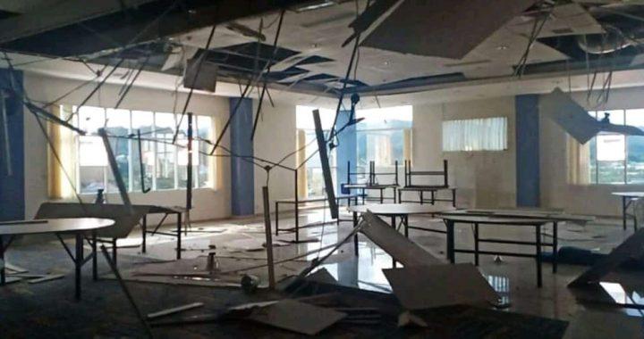 Rumah rusak yang terdampak gempa M6,2 di Sulawesi Barat (14/1/2021) Foto : BNPB