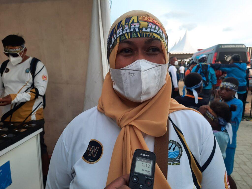 Manajer Dayung Jabar Alia Maedina (Foto : Naldi)